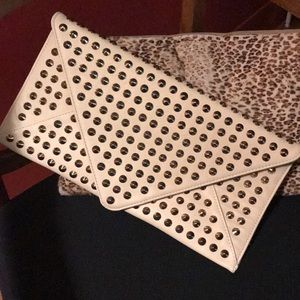 Urban Expressions Gold Studded Envelope Clutch